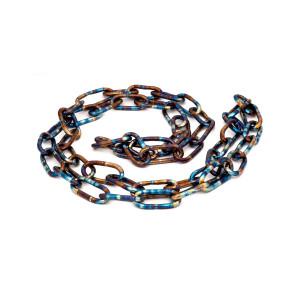 Titanium chain necklace, Statement chain titanium necklace, Unisex chain link necklace, Mens necklace, Necklace chain