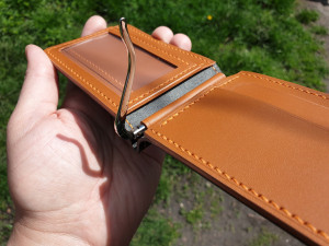 Money сlip wallet with a transparent window, vegetable tanned leather wallet, mens wallet, holiday gift, original gift, anniversary gift