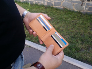 Vegetable Tanned Leather Bifold Wallet, Leather Wallet, Mens Wallet, Mens Leather Wallet, Holiday Gift