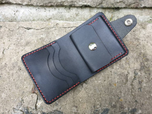 Black Leather Wallet, Vegetable Tanned Leather Wallet, Leather Bifold, Mens Wallet, Women's Wallet, Anniversary Gift