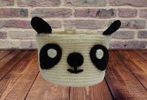 Panda basket knitted decorative