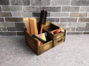Organizer gift for father Box Rustic Wood Desk Drawer Country Style Gift Office School Student Handmade For father's box
