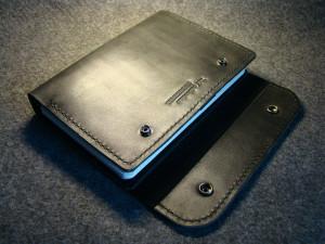 Leather portfolio, refillable notebook organizer, men custom document folder, travel folio