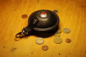 Belt coin pouch, leather money purse, men belt pocket, medieval travel bag, festival hip wallet