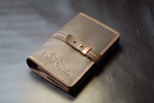 Leather men's wallet, money pouch with card holder & coins pocket, crazy horse leather bifold wallet