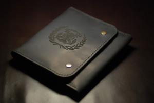 Men leather portfolio, personalized document folder, passport travel organizer, gift for sailor, engraved credit card wallet