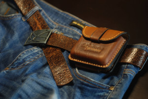 Travel belt bag, men's waist purse, engraved leather fanny pack, credit card and coin pouch
