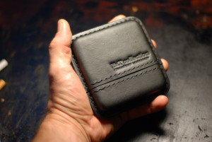 Travel cigarette case, leather cigar holder, engraved tobacco box, men's custom cigar pouch