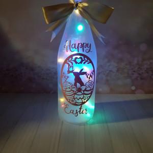 Easter bunny light, Easter Wine bottle light, Easter Night Light, Easter egg light