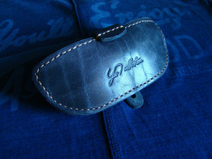 Custom glasses case, leather sunglasses pouch, reading eyeglass sleeve, men's personalized accessories