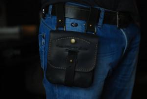 Utility belt pouch, men's custom waist purse, black leather fanny pack, hip pocket belt, hipster wallet