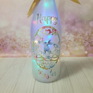 Easter Wine bottle light, Easter bunny light, Easter Night Light, Easter egg light