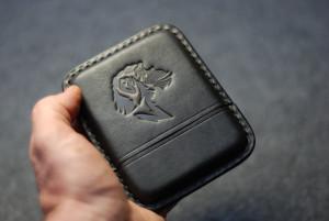 Leather cigarette case for cigarillos, black engraved cigar holder, men's travel tobacco box, custom husband gift