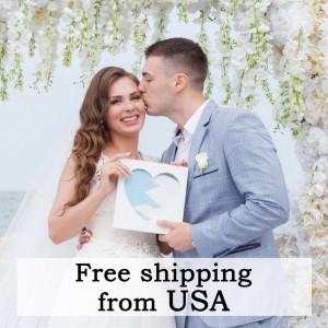 Wedding Sand Ceremony Heart Frame - Unity Sand Ceremony - Heart Frame For Sand Ceremony - Wedding Gift - Box For Sand Ceremony