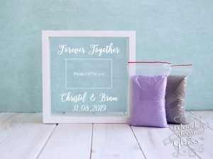 Personalized Wedding Sand Ceremony Photo Frame With Sand - Unity Sand Ceremony Set - Personalized Photo Frame For Sand Ceremony-Wedding Gift