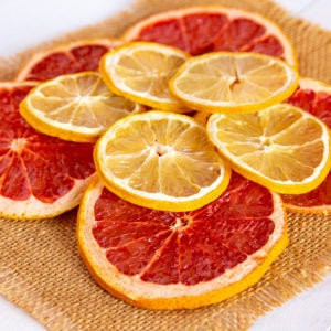 MIX Grapefruit and Orange 1.4oz orange and 1.4oz grapefruit slices, dried Grapefruit, Dried Orange fruit, dehydrated Citrus slices