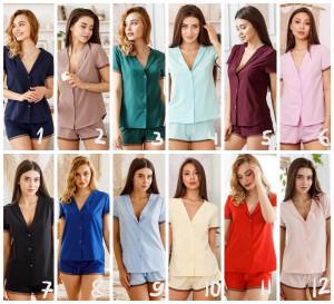 Bridesmaid pajama short set, 12 COLORS, bridesmaid pjs, bridal pajamas, bridal party pjs, pajama top soft, bridesmaid gifts