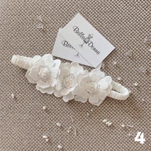 Rose flower garter, wedding garter, flower garter, garters for wedding, ivory garter, bride garter, beaded floral garter