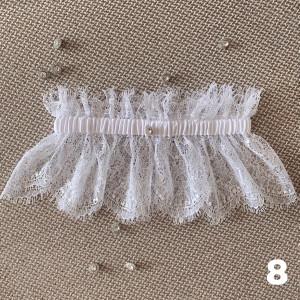 White bridal garter, Lace garter, Wedding day, Garter for bride, Garter with rhinestone, Gift for bride