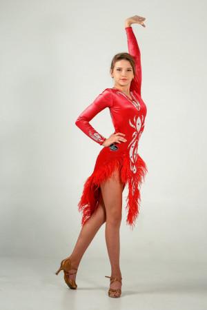 Latin dress for ballroom dancing SCARLET VIVAT