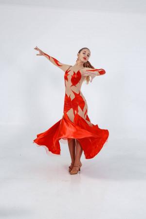 Ballroomdress for ballroom dancing DANCE OF FLAME