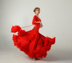 Ballroom dress for ballroom dancing  LACE MAGIC