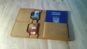 Leather passport holder Tan leather travel wallet Travelling passport case Travel wallet organizer Birthday gift Traveler gift