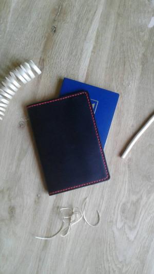 Black passport holder Passport sleeve Stylish travel accessory Classic passport cover Handmade case for passport Groomsmen Bridesmaid gift