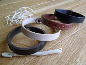 Personalized matching couple leather bracelet Best friends bracelet Custom leather cuff Handstamped bracelet His Hers gift Birthday presents