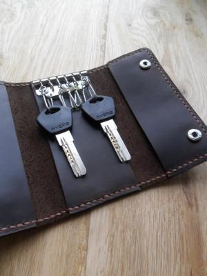 leather key holder Gift for dad Key bag Leather key fob Leather key case Leather key pouch Key holder wallet Leather holder bag