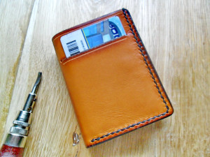 Trifold leather wallet Brown tri-fold wallet Men's trifold card holder 3rd anniversary gift Tri fold wallet Gift for Husband