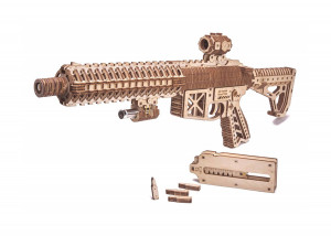 AR-T Assault Rifle, Without glue, 3D Puzzle, Jigsaw Puzzle, Mechanical Wooden Model, Eco Toy