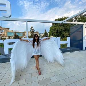 Show girl costume ,cosplay wings ,Big white angel wings for dancing,  girl angel at the wedding ,wide angel wings, wonder woman costume