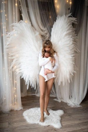 Large Angel Wings Costume Cosplay \ White Angel Wings \ Wings Photo Props \ Cosplay Wings \ White Wings \ Wedding \ Baby Photo Props