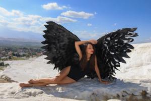 black angel wings cosplay wings sexy wings for girl Victoria Secret