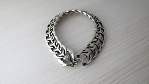 personalized gift * wide solid silver mens bracelet * anniversary gift for him