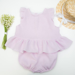Baby girl romper, boho baby romper, baby girl romper with flutter sleeves, Baby dress, baby lace dress, lace baby romper, beach baby