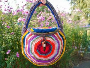 Crochet boho bag, Hippie bag, Bohemian bag, Woven bag, Hobo bag, Vintage bag style, Festival bag, Zero waste bag, Upcycled bag, Handbag
