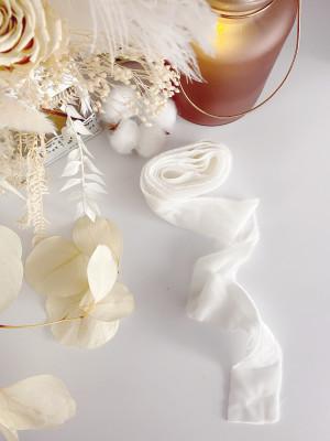 WHITE Ribbon Wedding Invitation Decor Silk Velvet Ribbon Cream Bridal Bouquet Ribbon Vintage Style Wedding Decor Wedding Bouquet Decoration