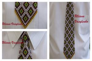 Tie Ukrainian men tie Ukrainian ornament Ukrainian Embroidery Men Gift Men Accessories Gift Ukrainian style Ukrainian jewelry Seed beads tie