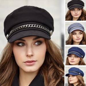 Newsboy cap women Vegan hat Organic cotton baker boy hat Black