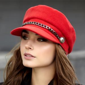 Cashmere newsboy cap women Elegant greek fisherman hat