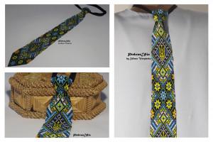 Ukrainian mens tie Ukrainian ornament Emblem of Ukraine Tie Handmade Tie Mens Gift Men Accessories Gift Ukrainian style Ukrainian jewelry