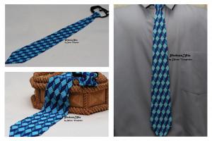 Blue mens tie 3d ornament Ukrainian mens tie Ukrainian ornament  Tie Men Gift Men Accessories Gift Ukrainian style