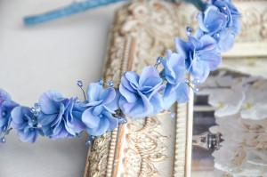 Hydrangea flowers  headband