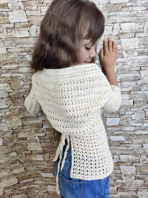 Crochet girls bolero Handmade summer cotton jacket Crochet shrug for kids Photoshoot outfit