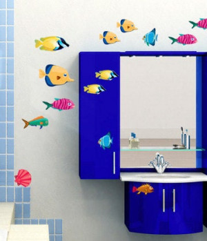 Fish Decals, fish decal, fish wall decals, fish wall decal, Fish sticker, Fish stickers, bathroom decal, bathroom wall decal, bathroom decor