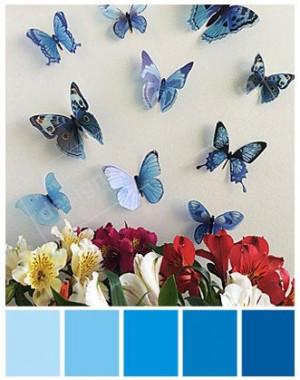3D Butterflies, 3D Wall Butterflies, Butterfly Wall Art, 3D Butterfly, Blue 3D Butterflies, Plastic 3D Butterfly, 3D Butterfly Wall Decal
