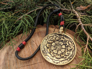 Tibetan Bagua Home Amulet Negative Energy Protection and Reflection Melong Mirror Pendant