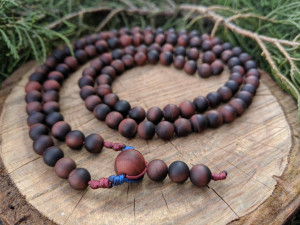 Natural Matte Red Tiger Eye 108 Beads Buddhist Mala Prayer Rosary for Mantra Meditation Yoga Relaxation
